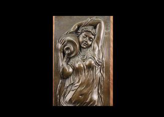 Fine Rare Bronze Relief Wall Art , High Relief Sculpture Contemporary Style