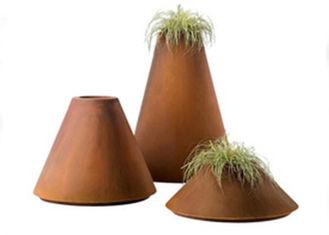 Professional Corten Steel Pots , Corten Steel Metal Flower Planters WS-CS367