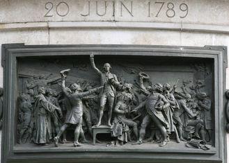 Wall Art French Revolution Bronze Relief For Outdoor Garden Decoration