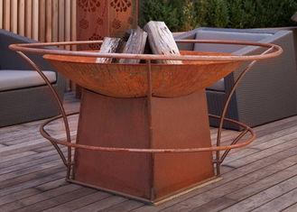 Forging Technique Large Fire Pit Bowl , Corten Steel Outdoor Fire Bowls