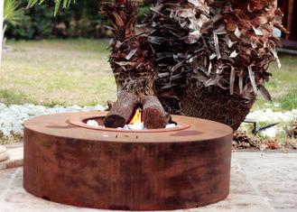 Eco Friendly Attractive Garden Heating Corten Steel Fire Pit Round Shape