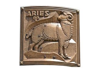 Contemporary Metal Aries Bronze Relief For Outdoor / Indoor Decoration
