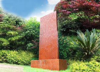 Anti Corrosion Corten Steel Water Wall , Corten Steel Garden Features