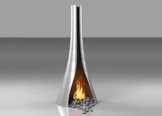 Modern Brushed Finish Fire Pit Modern Design For Garden / Home Decor